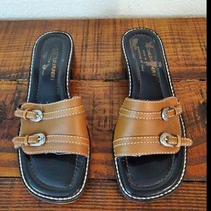 Donald J Pliner Leather Slide Strap Sandals Size 7